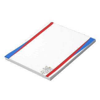 La République Tchèque barre le drapeau Bloc-note