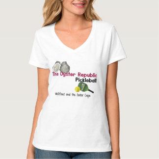 La République Wellfleet Pickleball de l'huître des T-shirt