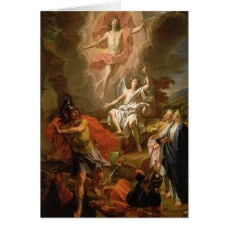 La résurrection du Christ, 1700 Carte De Vœux