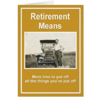 La retraite signifie… carte de vœux