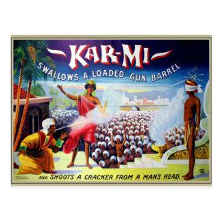 La rétro magie vintage Kar-MI de kitsch avale une Carte Postale