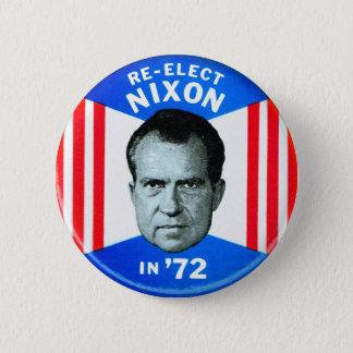 La rétro politique vintage de kitsch réélit Nixon Badges