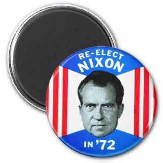 La rétro politique vintage de kitsch réélit Nixon  Magnet Rond 8 Cm
