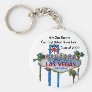 La Réunion de classe à Las Vegas Porte-clé Rond