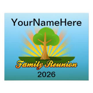 La Réunion de famille faite sur commande, arbre Prospectus 11,4 Cm X 14,2 Cm