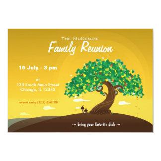 La Réunion de famille (orange) Carton D'invitation 12,7 Cm X 17,78 Cm