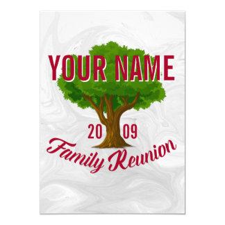 La Réunion de famille personnalisée par arbre Carton D'invitation 12,7 Cm X 17,78 Cm