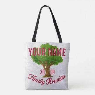 La Réunion de famille personnalisée par arbre Tote Bag