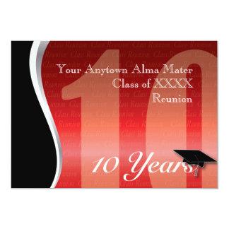 La Réunion personnalisable de classe de 10 ans Carton D'invitation 12,7 Cm X 17,78 Cm