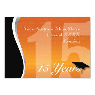 La Réunion personnalisable de classe de 15 ans Carton D'invitation 12,7 Cm X 17,78 Cm