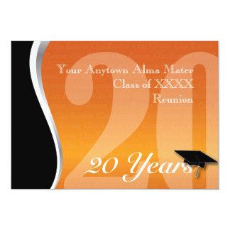 La Réunion personnalisable de classe de 20 ans Carton D'invitation 12,7 Cm X 17,78 Cm