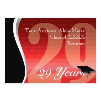 La Réunion personnalisable de classe de 29 ans Carton D'invitation 12,7 Cm X 17,78 Cm