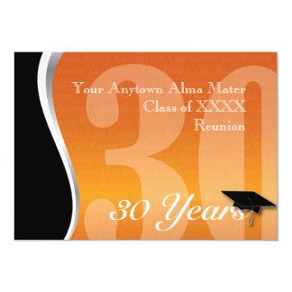 La Réunion personnalisable de classe de 30 ans Carton D'invitation 12,7 Cm X 17,78 Cm