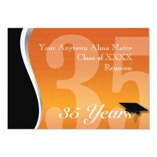 La Réunion personnalisable de classe de 35 ans Carton D'invitation 12,7 Cm X 17,78 Cm