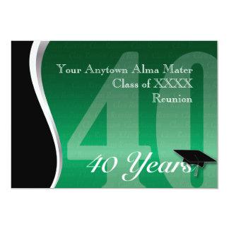 La Réunion personnalisable de classe de 40 ans Carton D'invitation 12,7 Cm X 17,78 Cm