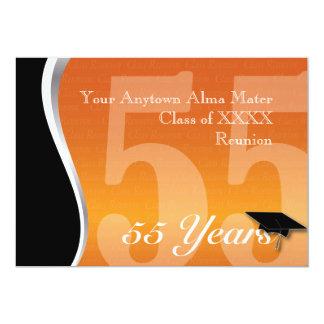 La Réunion personnalisable de classe de 55 ans Carton D'invitation 12,7 Cm X 17,78 Cm