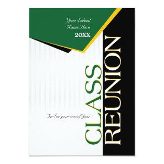 La Réunion personnalisable de classe de vert et Carton D'invitation 12,7 Cm X 17,78 Cm