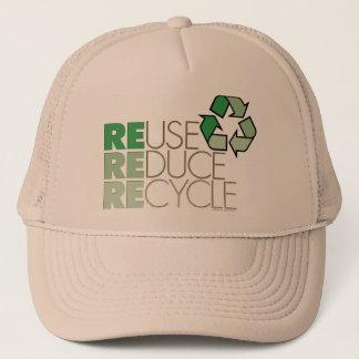 La réutilisation, réduisent, réutilisent le casquette