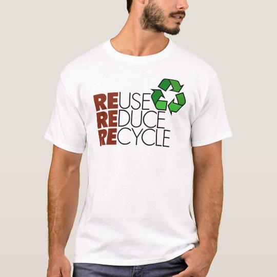 La réutilisation réduisent réutilisent le T-shirt