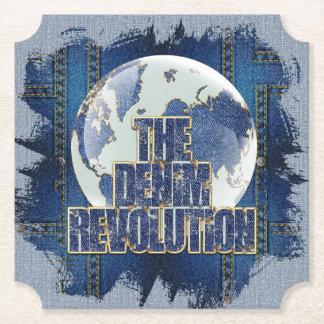 La révolution de denim dessous-de-verre en papier