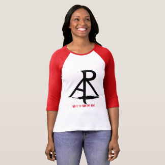 La rhétorique écrivent de biais à votre propre t-shirt