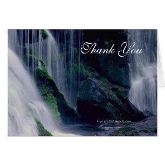 La rivière chauve tombe carte pour notes de Merci