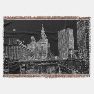 La rivière Chicago Wrigley 1967 établissant Sun Couvertures