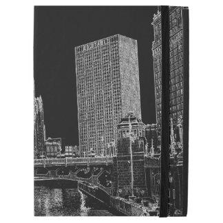 """La rivière Chicago Wrigley 1967 établissant Sun iPad Pro 12.9"""" Case"""