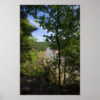 La rivière Cumberland donnent sur, le Kentucky Poster