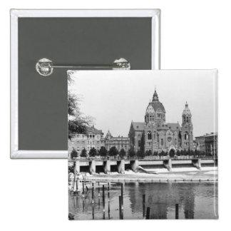La rivière Isar à Munich, c.1910 Badge
