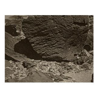 La roche a découpé par le sable de dérive, lavage carte postale