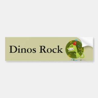 La roche de Dino - fête d'anniversaire de Autocollant De Voiture