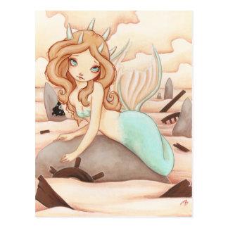 La roche de la sirène - carte postale de fée de