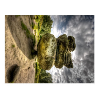 La roche d'idole chez Brimham bascule la carte