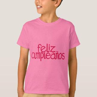 La rose indien de Feliz Cumpleaños badine le T-shirt
