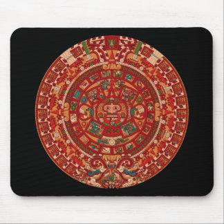 La roue (aztèque) maya de calendrier tapis de souris
