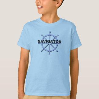 La roue de bateau de navigateur badine le T-shirt