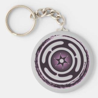 La roue de Hecate Keychain (pourpre) Porte-clé Rond