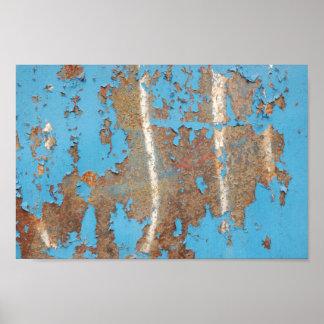 La ROUILLE Corroded-metal1617 BLEUE DONNE à des Posters