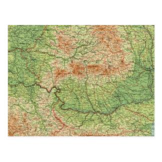 La Roumanie et les états adjacents Carte Postale