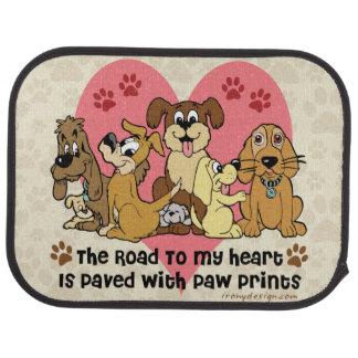 La route à mes chiens de coeur tapis de sol