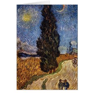 La route de Cypress par Vincent Willem Van Gogh Carte De Vœux