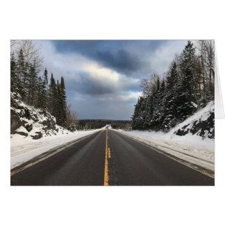 La route moins a voyagé carte vierge de route