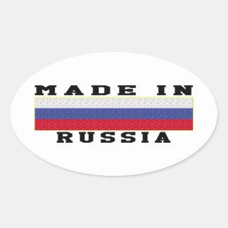 La Russie a fait dans les conceptions Sticker Ovale