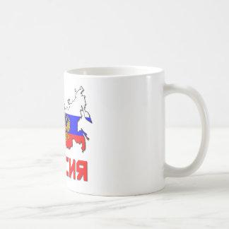 La Russie avec la crête Mug