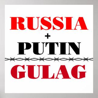 La Russie et Poutine Posters