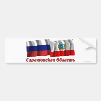 La Russie et Saratov Oblast Autocollant De Voiture