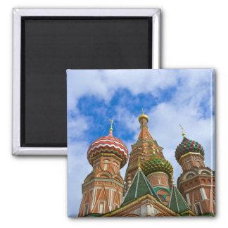 La Russie, Moscou, carré rouge, St Basil Magnet Carré