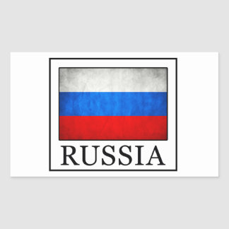 La Russie Sticker Rectangulaire