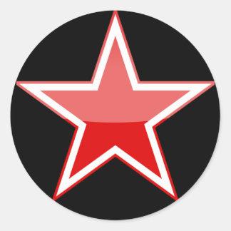 la Russie Sticker Rond